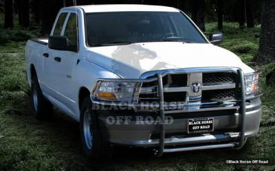 Black Horse - Dodge Ram Black Horse Push Bar Guard