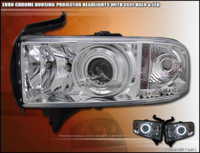 Custom - Euro Chrome Halo LED Headlights