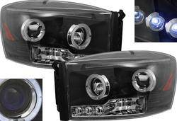 Custom - Black Halo LED Headlights