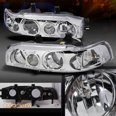 Custom Disco - Honda Accord Custom Disco Clear Projector Headlights - LHP-ACD90-KS