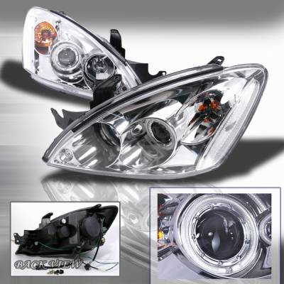 Custom Disco - Mitsubishi Lancer Custom Disco Chrome Projector Headlights - LHP-LAN03H-KS