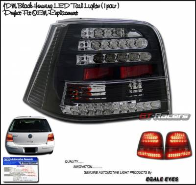 Custom - Black LED Tail Lights