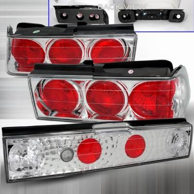 Custom Disco - Honda Civic Custom Disco Chrome Taillights - 3PC - LT-CV883-YD