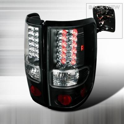 Custom Disco - Ford F150 Custom Disco Black LED Taillights - LT-F15004JMLED-YD