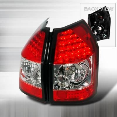 Custom Disco - Dodge Magnum Custom Disco Red & Clear LED Taillights - LT-MAG05RLED