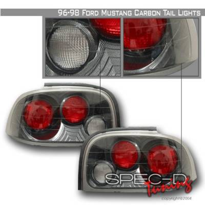 Custom Disco - Ford Mustang Custom Disco Carbon Taillights - LT-MUS96CF-YD