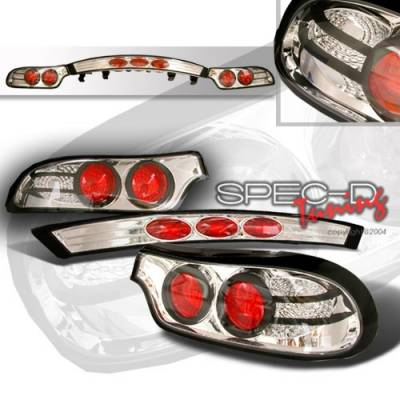Custom Disco - Mazda RX-7 Custom Disco Chrome Taillights - LT-RX792-YD