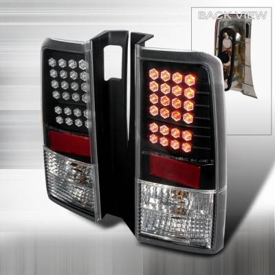 Custom Disco - Scion xB Custom Disco Black LED Taillights - LT-XB04JMLED