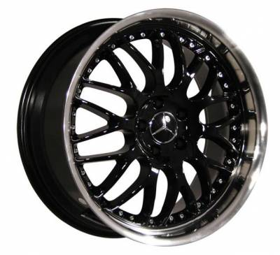 Custom - 19 inch - BlackSilver - 4 wheel set