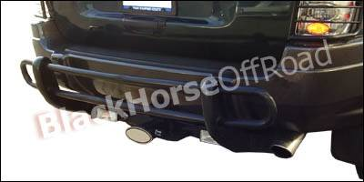 Black Horse - Jeep Grand Cherokee Black Horse Rear Bumper Guard - Double Tube