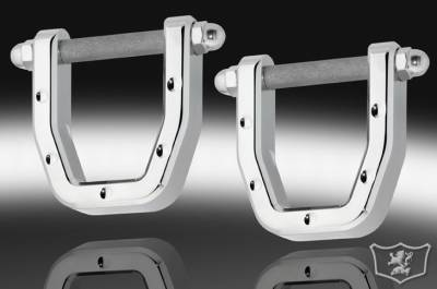 Defenderworx - Hummer H2 Defenderworx Front Tow Hooks - Dimpled - Set of 2 - Chrome - H2PDC05002