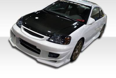 Extreme Dimensions 16 - Honda Civic 4DR Duraflex Bomber Body Kit - 4 Piece - 110325