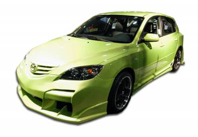 Extreme Dimensions 16 - Mazda 3 4DR HB Duraflex Raven Body Kit - 4 Piece - 110607