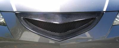 Weapon R - Mazda 3 4DR Carbon Creations Open Mouth Grille - 1 Piece - 105030