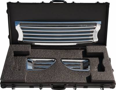 Defenderworx - Land Rover Range Rover Defenderworx Grille with Side Vents - Door Handles - Logo Bezels Kit - Polished - RRPPC06050