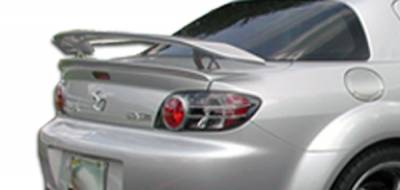 Extreme Dimensions 16 - Mazda RX-8 Duraflex M-1 Speed Wing Trunk Lid Spoiler - 3 Piece - 100585