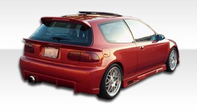 Extreme Dimensions 16 - Honda Civic HB Duraflex Mid Wing Trunk Lid Spoiler - 3 Piece - 101127