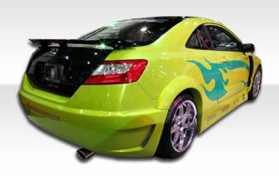 Honda Civic 2DR Duraflex Hot Wheels Wide Body Rear Fender Flares - 2 Piece - 100679