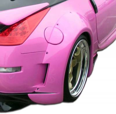 Chargespeed - Nissan 350Z Duraflex Vader 3 Wide Body Rear Fender Flares - 2 Piece - 102267