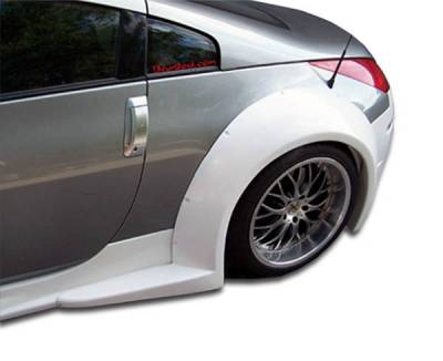 Duraflex - Nissan 350Z Duraflex B-2 Wide Body Rear Fender Flares - 2 Piece - 103350