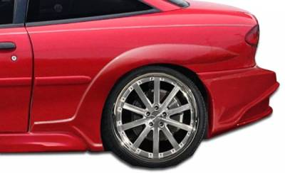 VIS Racing - Chevrolet Cavalier 2DR Duraflex Millenium Wide Body Rear Fender Flares - 2 Piece - 105644