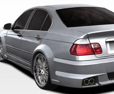 Extreme Dimensions 16 - BMW 3 Series 4DR Duraflex I-Design Wide Body Rear Fender Flares - 2 Piece - 106515
