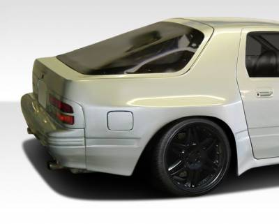 Mazda RX-7 Duraflex MTP Wide Body Rear Fender Flares - 2 Piece - 106594