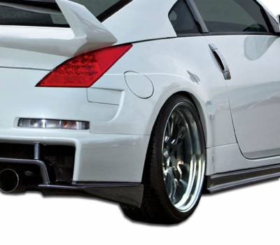 JT Autostyle - Nissan 350Z Duraflex AM-S Wide Body Rear Fender Flares - 2 Piece - 107229