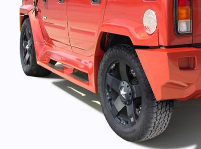 Extreme Dimensions 16 - Hummer H2 Couture Vortex Wide Body Rear Fender Flares - 2 Piece - 109173