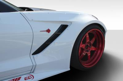 Extreme Dimensions 16 - Chevrolet Corvette Duraflex Gran Veloce Wide Body Front Fender Flares- 2 Piece - 112431