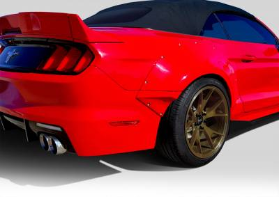 Extreme Dimensions 16 - Ford Mustang Duraflex Grid Wide Body Rear Fender Flares - 4 Piece - 112567