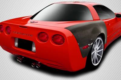 Extreme Dimensions 16 - Chevrolet Corvette Carbon Creations ZR Edition Rear Fenders - 2 Piece - 107097