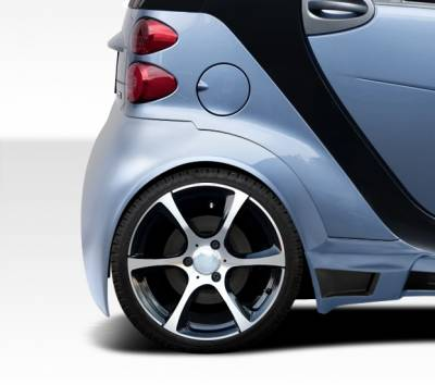 Extreme Dimensions 16 - Smart ForTwo Duraflex GT300 Wide Body Rear Fenders - 2 Piece - 107844