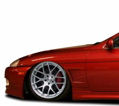 Extreme Dimensions 16 - Lexus SC Duraflex V-Speed 25mm Front Fenders - 2 Piece - 108943