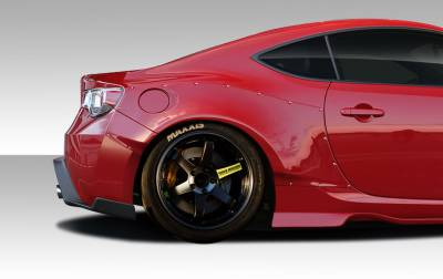 Extreme Dimensions 16 - Subaru BRZ Duraflex GT500 Wide Body Rear Fenders - 4 Piece - 109030