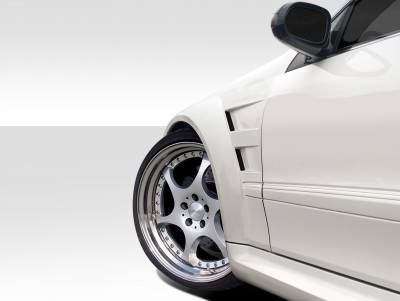 Extreme Dimensions 16 - Mercedes-Benz CLK Duraflex Duraflex Black Series Look Wide Body Front Fenders - 2 Piece - 109665