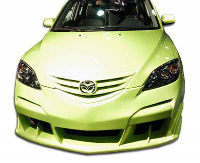 Extreme Dimensions 16 - Mazda 3 4DR HB Duraflex Raven Front Bumper Cover - 1 Piece - 100566