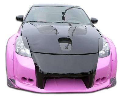 Extreme Dimensions 16 - Nissan 350Z Duraflex Vader 3 Wide Body Front Bumper Cover - 1 Piece - 102263