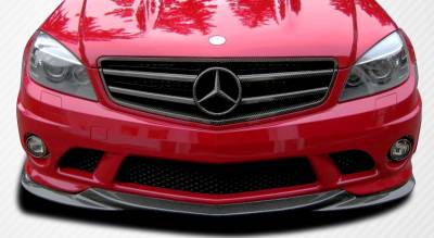 Mercedes-Benz C Class Carbon Creations L-Sport Front Under Spoiler Air Dam Lip Splitter - 1 Piece - 107154