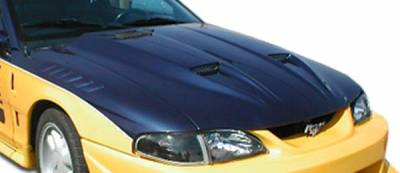 Extreme Dimensions 16 - Ford Mustang Duraflex Mach 1 Hood - 1 Piece - 102256