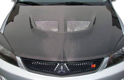 Mitsubishi Lancer Carbon Creations Evo Hood - 1 Piece - 104190