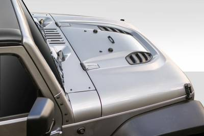 Extreme Dimensions - Jeep Wrangler Duraflex Power Dome Hood - 1 Piece - 109692