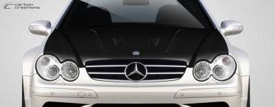 Extreme Dimensions 16 - Mercedes-Benz CLK Carbon Creations Black Series Look Hood - 1 Piece - 112321