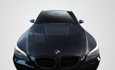 VIS Racing - BMW 5 Series Carbon Creations GT-R Look Hood - 1 Piece - 112332