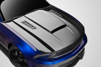 Extreme Dimensions 16 - Ford Mustang Carbon Creations CV-X Version 3 Hood - 1 Piece - 112477