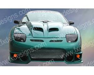 FX Designs - Pontiac Sunfire FX Design Pin On Style Ram Air Hood - FX-916
