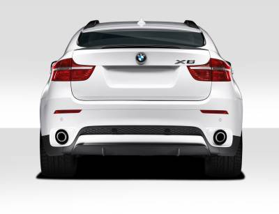 Extreme Dimensions 16 - BMW X6 Duraflex M Performance Look Rear Diffuser Lip Under Air Dam Spoiler - 1 Piece - 109528