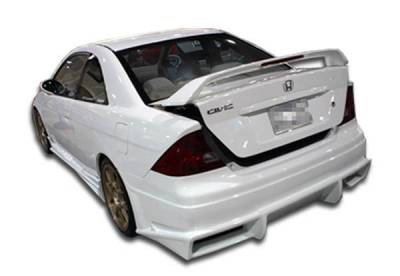 Extreme Dimensions 16 - Honda Civic 2DR Duraflex Bomber Rear Bumper Cover - 1 Piece - 100230