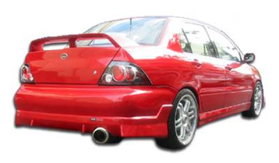 Duraflex - Mitsubishi Lancer Duraflex Walker Rear Bumper Cover - 1 Piece - 100371