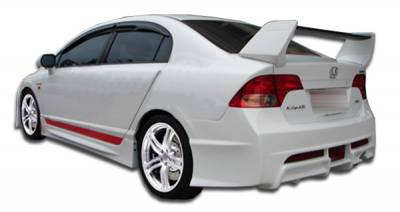 Extreme Dimensions 16 - Honda Civic 4DR Duraflex R-Spec Rear Bumper Cover - 1 Piece - 104429